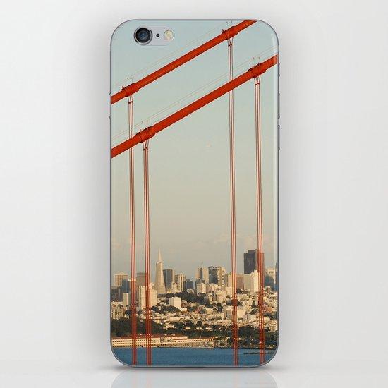 Golden San Gate Francisco Bridge iPhone & iPod Skin
