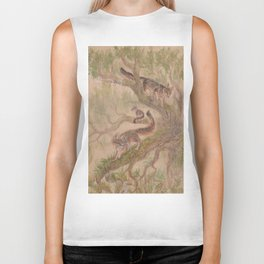 Grey Foxes and Tree Tops Biker Tank