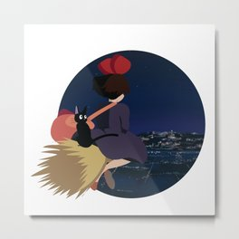 Witch at Night Metal Print