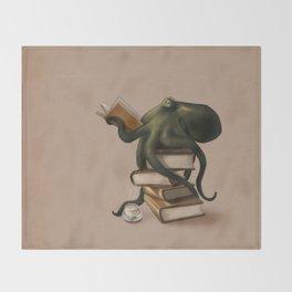 Well-Read Octopus Throw Blanket