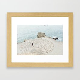 Human Mandala Framed Art Print