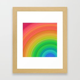 Bright Rainbow | Abstract gradient pattern Framed Art Print