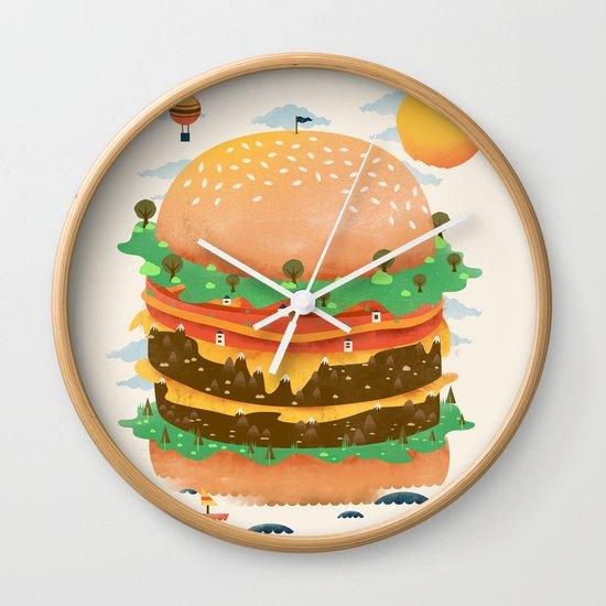 Burgerland Wall Clock