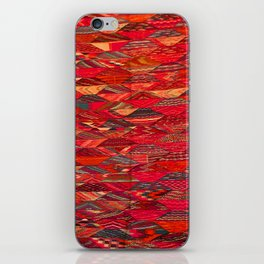 V35 Red Traditional Moroccan Artwork Pattern iPhone Skin