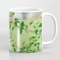 jane austen Mugs featuring Jane Austen Refreshment by KimberosePhotography