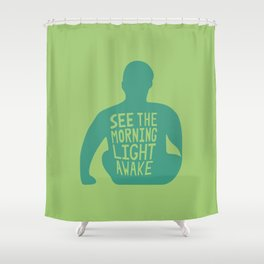 Stop Wait Sit - Everything In Colour Shower Curtain