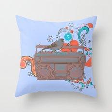 Retro Music Throw Pillow