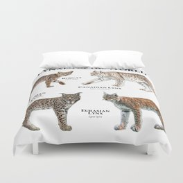 Lynxes of the World Duvet Cover