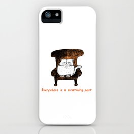 Everywhere is a Scratching Post (Orange) iPhone Case