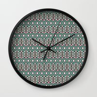 folk Wall Clocks featuring Folk by Ana Types Type
