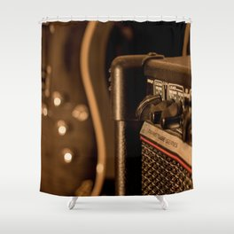 Amps & Guitar Shower Curtain