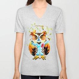 The most beautiful Owl Unisex V-Neck
