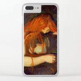 Edvard Munch, Vampire Clear iPhone Case