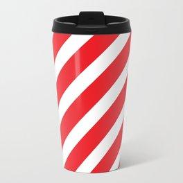 Basic Stripes Red Travel Mug