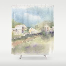 Ghost Town Memories Shower Curtain
