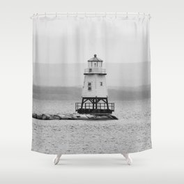 The Grand Lighthouse - Hamptons Style Shower Curtain