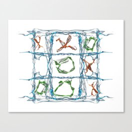 X and O Canvas Print