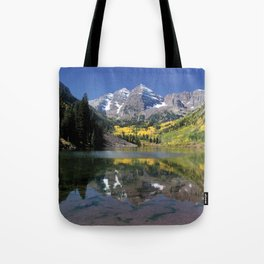 Maroon Bells in Aspen, Colorado Tote Bag