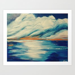 SUNSET ON THE WATER Art Print