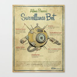 Surveillance Bot Eyeball print. Canvas Print