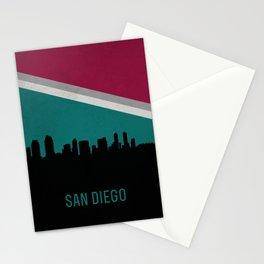 San Diego Skyline Stationery Cards