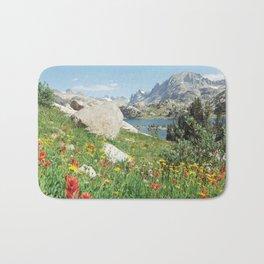 August Wildflowers in the Rockies Bath Mat