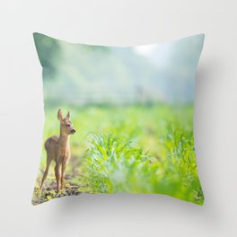 Little Doe (Color) Throw Pillow