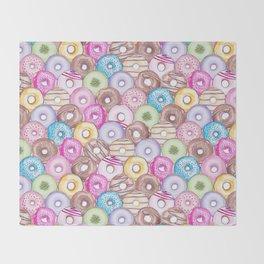 Donut Invasion Throw Blanket