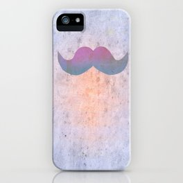 Pink stache iPhone Case