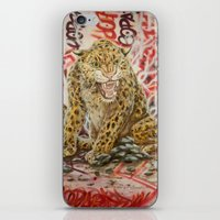 leopard iPhone & iPod Skins featuring Leopard by Michael Hammond
