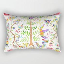 Otomi textile watercolor Rectangular Pillow