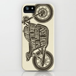 Two wheels move the soul iPhone Case