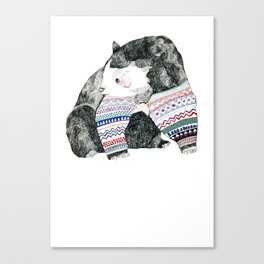 Knitted Bear Canvas Print