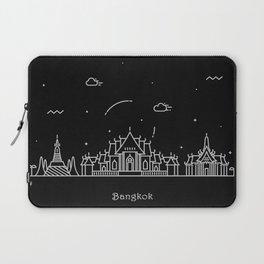 Bangkok Minimal Skyline Drawing Laptop Sleeve