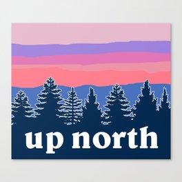 up north, pink hues Canvas Print