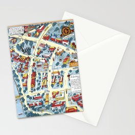 MINNEAPOLIS University map MINNESOTA dorm decor Stationery Cards