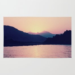Romantic Pastel Pink Sunset #1 #art #society6 Rug