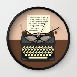 A Story About Love Wall Clock