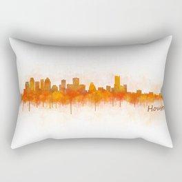 Houston City Skyline Hq v3 Rectangular Pillow