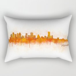 Houston City Skyline Hq v3 Rectangular Pillow