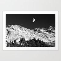 yosemite Art Prints featuring Yosemite by Claude Gariepy