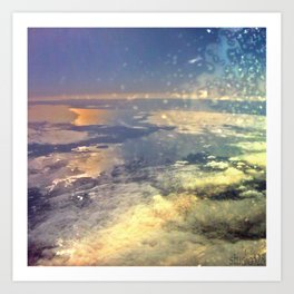 From the Airplane Art Print