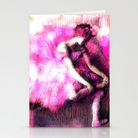 ballerina Stationery Cards featuring Ballerina. by PureVintageLove