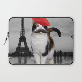 French Cat in Paris Laptop Sleeve