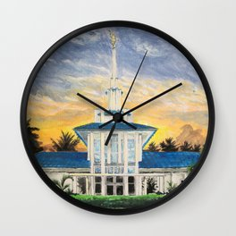 Papeete Tahiti LDS Temple Wall Clock
