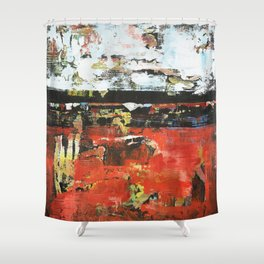 Jacksonville Orange Abstract Painting Shower Curtain