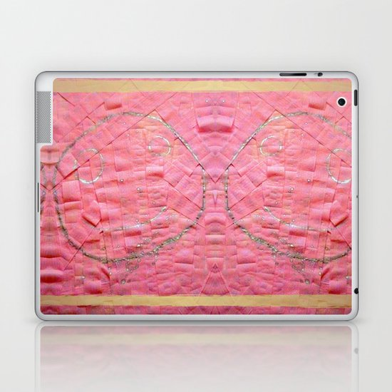 Smile on a pink toilet paper Laptop & iPad Skin