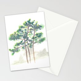 Northern Michigan Watercolor Pine Trees Stationery Cards