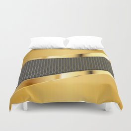 Carbon and Gold Duvet Cover