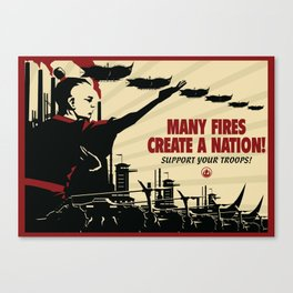Many Fires Create a Nation Canvas Print